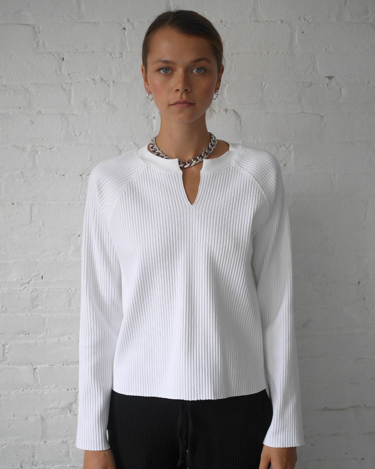 Vital Rib Slashed Top