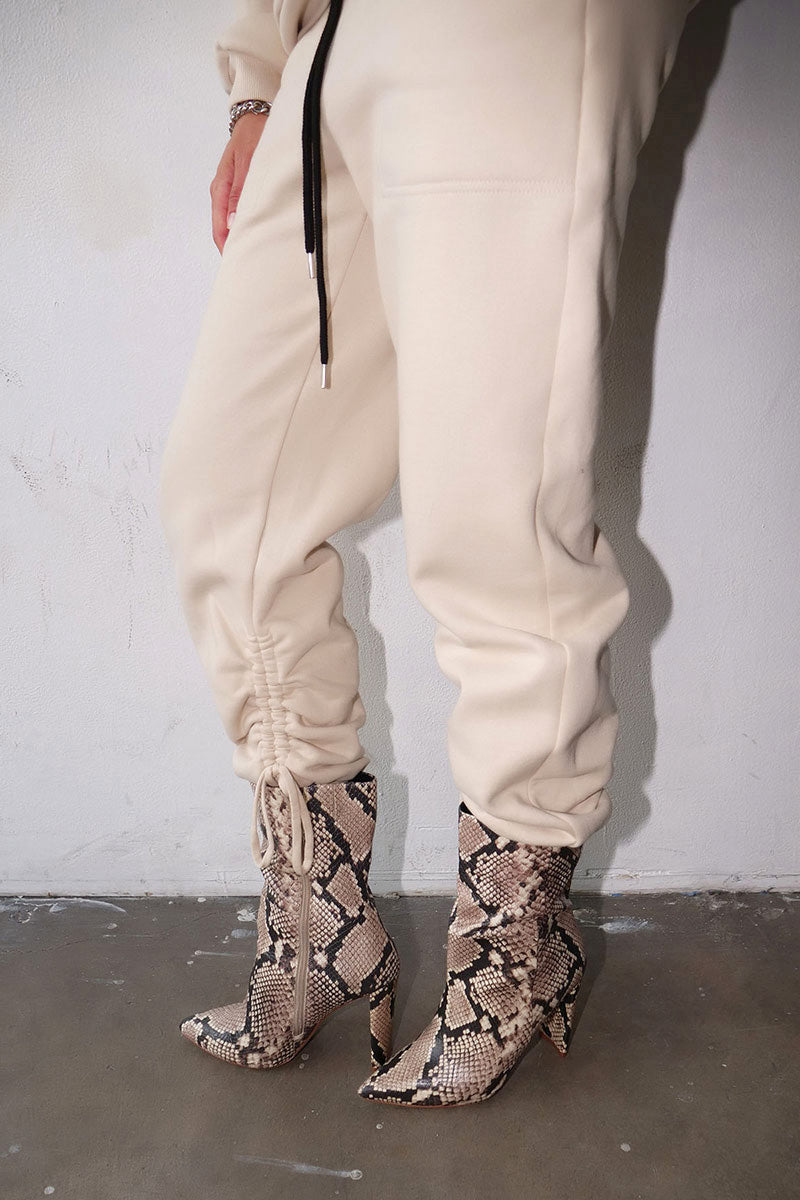 Brushed Contra Terry Cinched Sweatpants