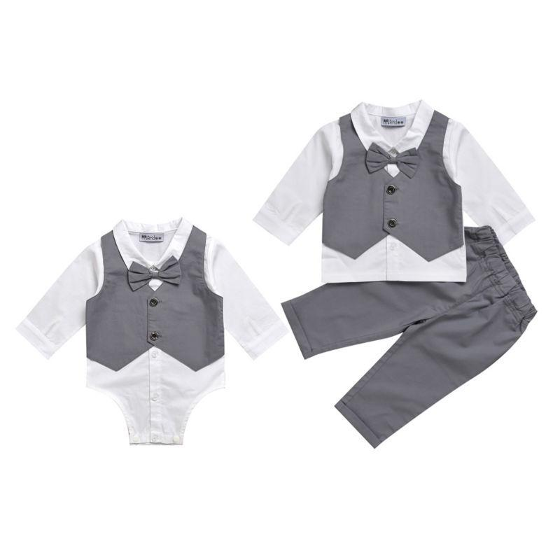 Swagger Stash | Suit Vest | Bow Shirt Romper | Pants | 2 pc set