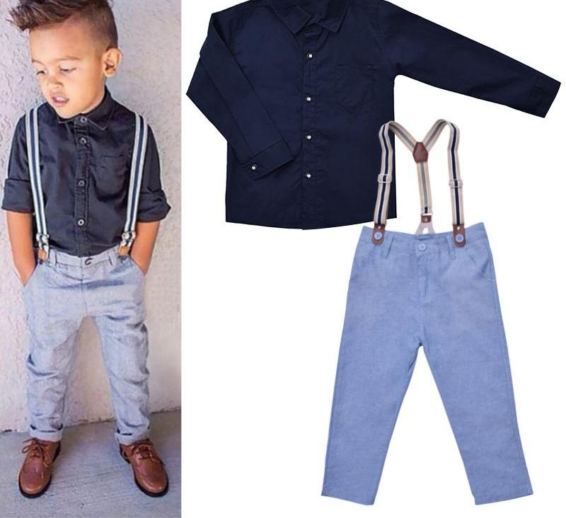 Suspender Swag Set - Long Sleeve Shirt | Suspender | Trousers