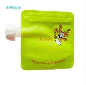 Cartoon Reusable Baby Squeeze Pouches