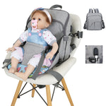 Multi-Functional Waterproof Diaper Bag with Baby Seat