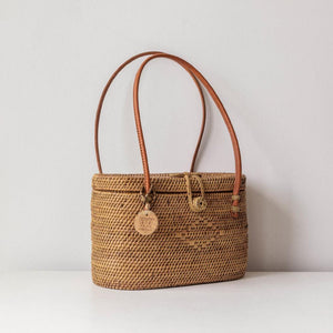 Alora Ata Bag, Women's Boho Purse, Coachella Style. By Wicker & Weave