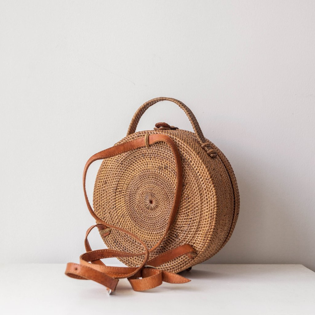 Harlow Ata Grass Mini Backpack. Rattan Backpack, Boho Festival Bag for Splendour In The Grass? Coachella? Burning Man? EDC?