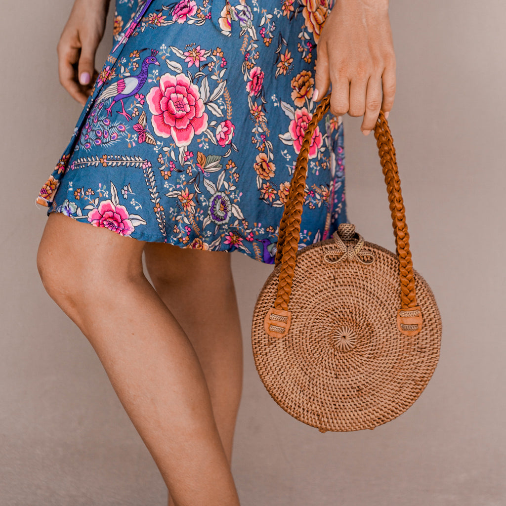 Lilou Ata Grass Bag. Women's Boho Purse, Coachella Outfit. By Wicker & Weave