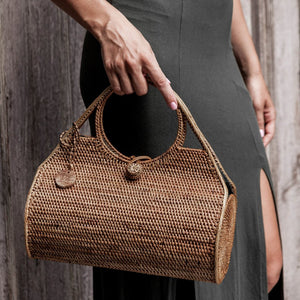 Ocean Ata Bag. Handwoven bohemian style bag. Coachella bags and purses. By Wicker & Weave