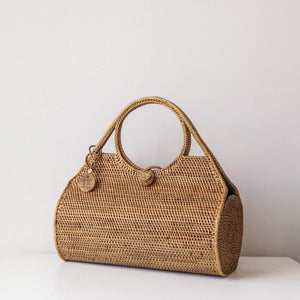 Ocean Ata Grass Bag. Rattan Bag. Handwoven bohemian bag. Coachella bags and purses. By Wicker & Weave