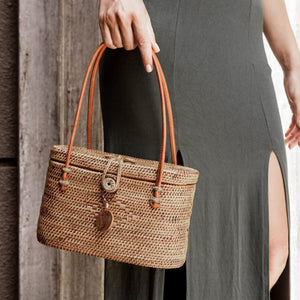 Alora Ata Bag, Women's Boho Clutch. Coachella Outfit. By Wicker & Weave