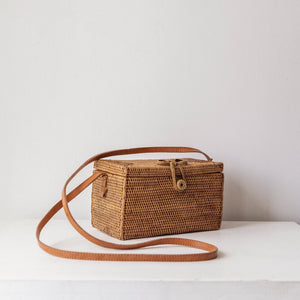 Marigold Ata Grass Bag, Rattan Bag. Boho Handbag. Bohemian Style. Coachella Outfits. By Wicker & Weave