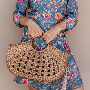 Aroha boho bag, womens handbag. Market bag, beach bag. By Wicker & Weave
