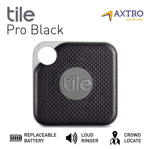 Tile Pro Black (With Replaceable Battery) - 1 Pack