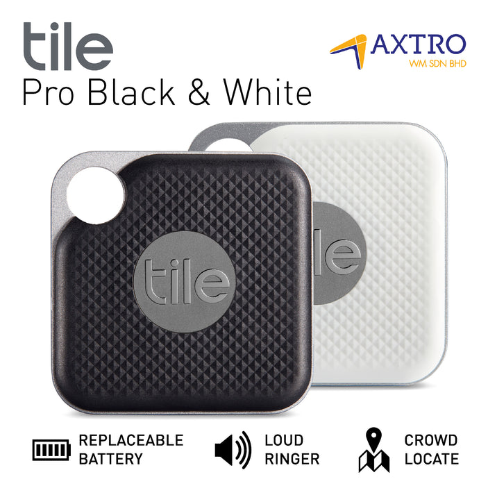 Tile Pro 2 Pack Combo (Black & White) (With Replacement Battery)