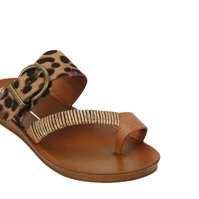 Los Carbos Bria Leopard Light Flexible Sandal Jandal