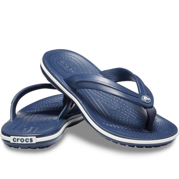 Crocs Kids Crocband Flip Flop No Back Strap Navy