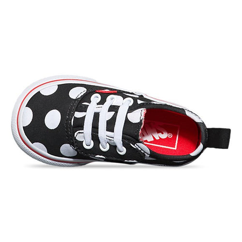 Toddlers Vans Velcro Polka Dots Black White – Foot Forward Shoes 8fafc85e68