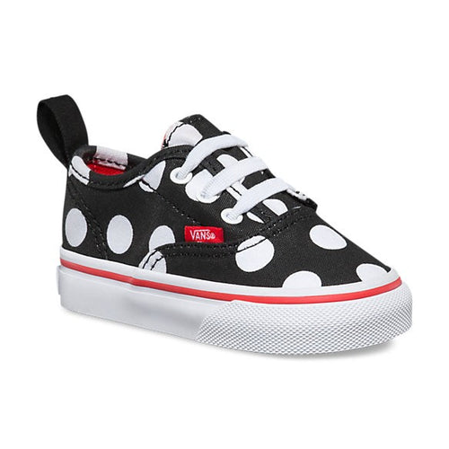 78f65bbf247b14 Toddlers Vans Velcro Polka Dots Black White – Foot Forward Shoes