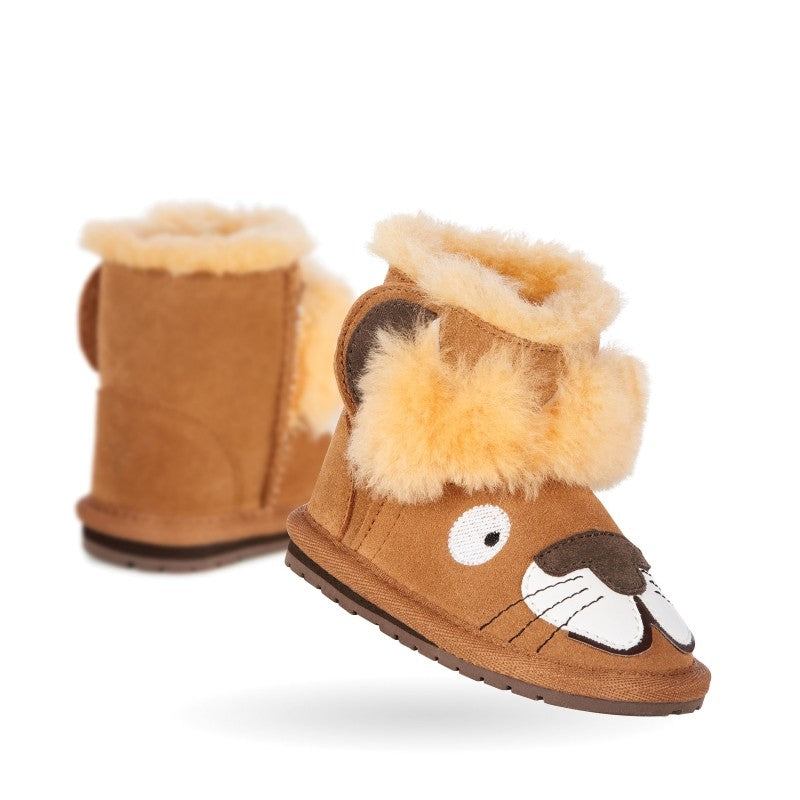 EMU - Toddlers - Leo Lion Walker baby bootie