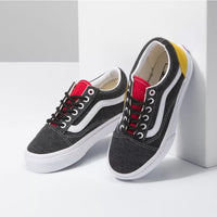 Vans Kids Old Skool Coastal Grey Red Yellow Lace Up