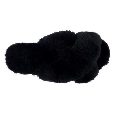 EMU Women's Mayberry Black Scuff Slipper