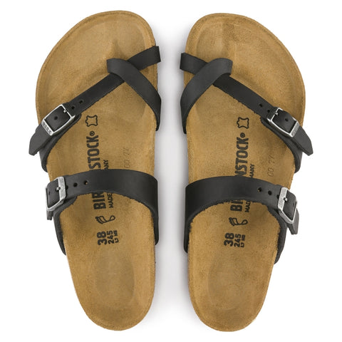 Birkenstock Mayari Womens Oiled Leather Black Regular Width