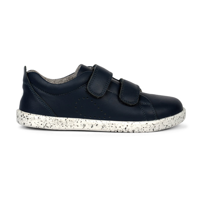 Bobux Kids + Plus Grass Court Navy Velcro Trainers 832404A