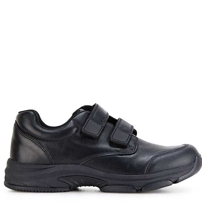 Clarks - Approve Kids Black School Shoe Leather with Scuff Resistant Toe