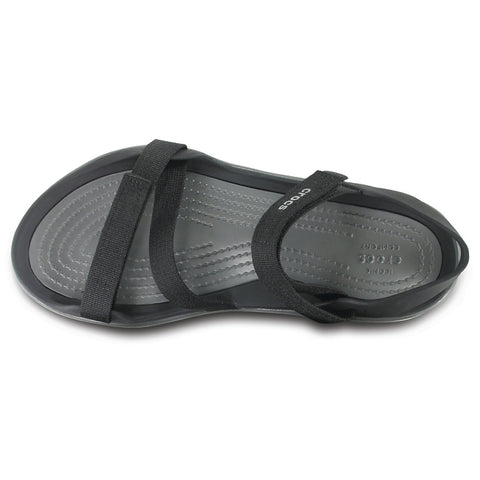 Crocs Womens Swiftwater Webbing Sandal All Black womens 7, 8, 9