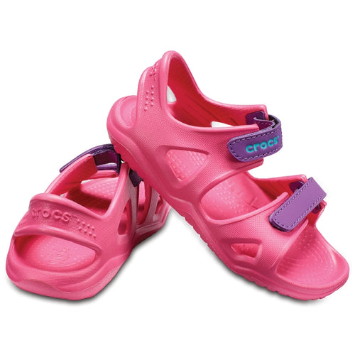 da0763a47c44d7 Toddler Girls Swiftwater River K Sandal from Crocs Pink Velcro ...