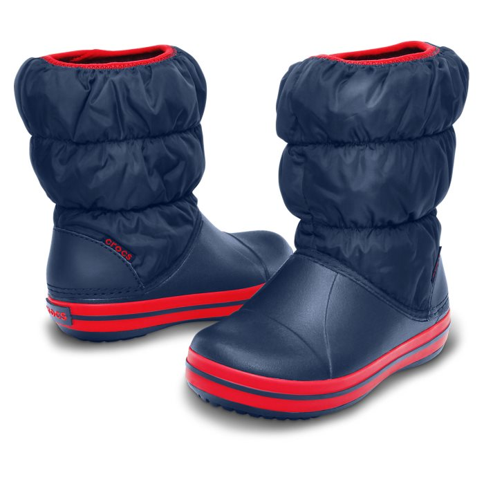 Crocs Kids - Winter Puff Rain Boot Navy Red - Gumboots
