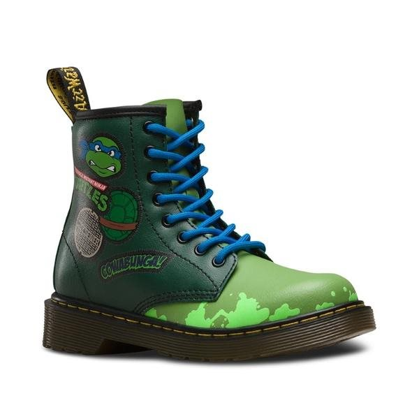 Dr Martens Kids  - Leo Teenage Mutant Ninja Turtle Boot sizes uk 12-2