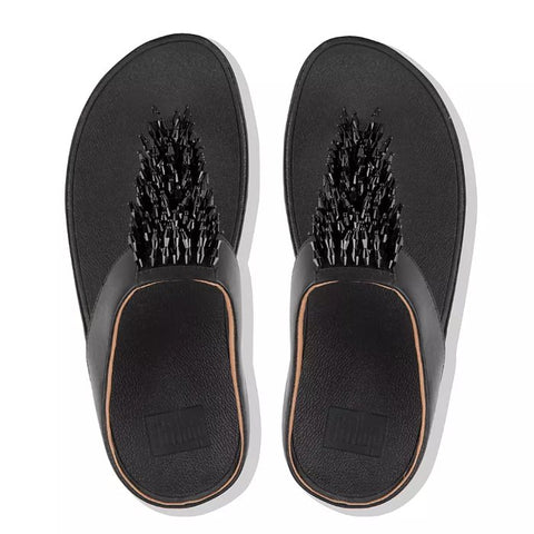 FitFlop Rumba Black Toe Thong Sandals
