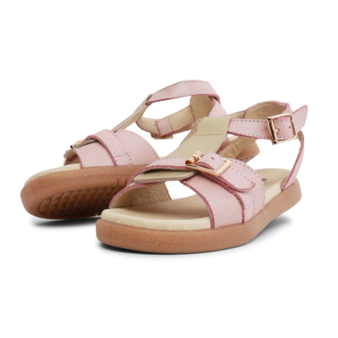 Bobux Kids + Plus Girls Hera Pink Blush Gold Leather Sandal 835302