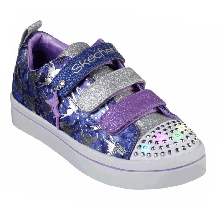 Skechers Girls Light Ups Twinkle Toes Fairy Wishes Navy