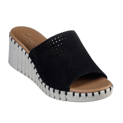 Skechers - Pier Ave Urban Escape Black Wedge Heel Sandal