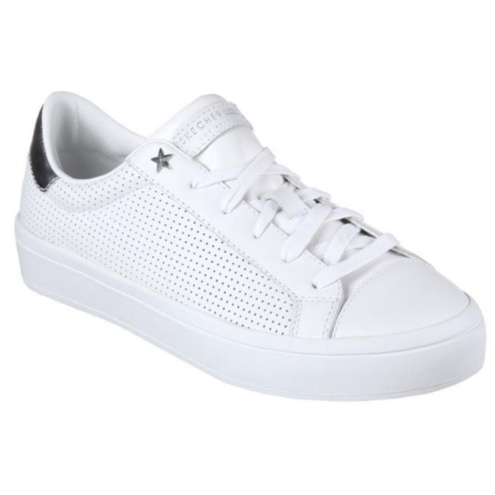 Skechers Womens - Hi-Lites Perfect White Kicks Street Shoe Lace Up