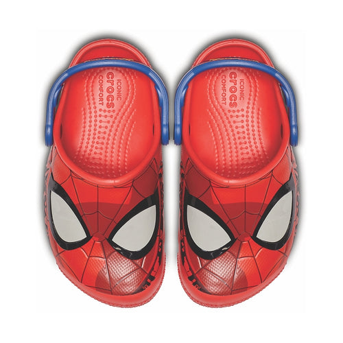 885b88719 Kids Crocs Spiderman Light Up FunLab Crocs Red On Sale – Foot ...