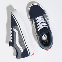 Vans - Old Skool  - Youths Suiting Dress Blue Lace Up