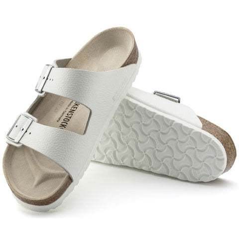 Birkenstock Arizona Smooth Leather White Narrow Width Pebbled Look