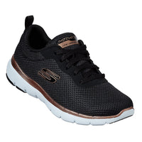 Womens Skechers - Flex Appeal 3.0 First In Sight Black Rose Gold