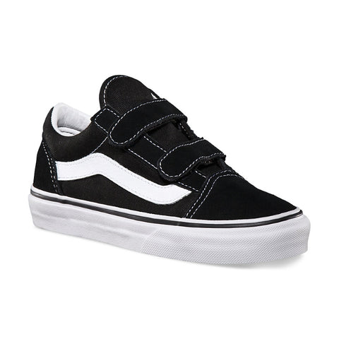 Vans Kids - Old Skool V Black White Youths -  us 11-4