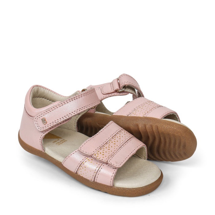 Bobux Step Up Hampton First Sandals Pink 729307 Seashell Comet