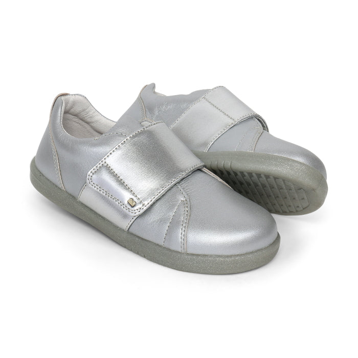 Bobux Kids+ Boston 2 Silver Leather Trainer 835416