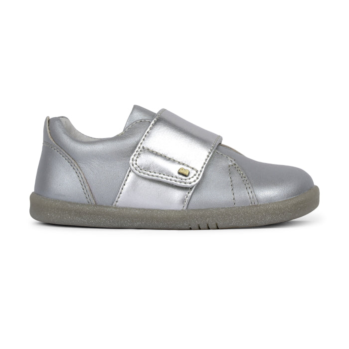 Bobux Iwalk Boston Silver Leather Trainer 635317