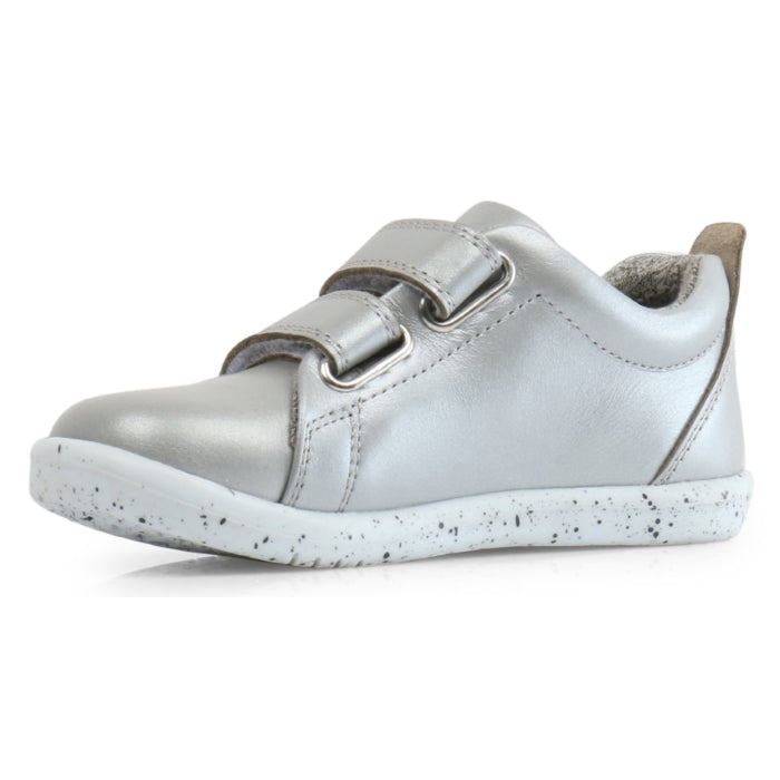 Bobux Iwalk Grass Court Silver Leather Trainer 633705