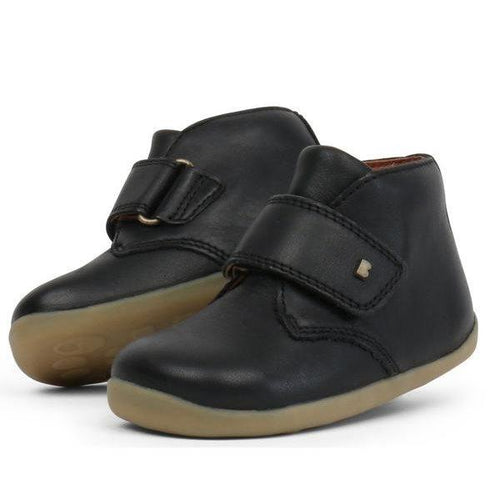 Bobux Step Up Desert Boot Black  724815 & 724819 sizes 19-22