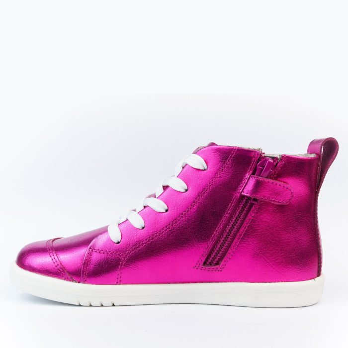 Bobux Kids Plus KP Alley Oop Boot Raspberry Metallic