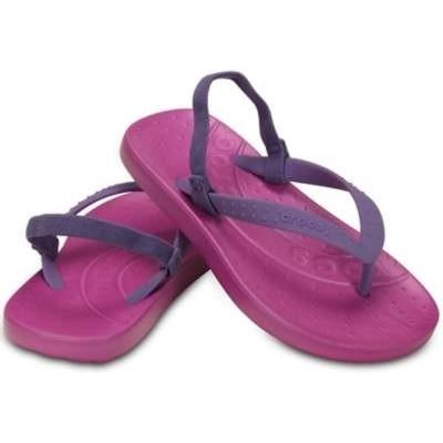 Crocs Kids - Chawaii Flip K Wild Orchard/Blue Violet 6/7 - 12/13
