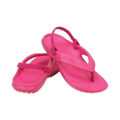 69be2b2f07347 Kids Classic Croc Flip Flop Candy Pink with back strap up to size 13 ...