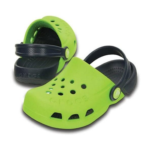 Crocs Kids - Electro - Volt Green Navy Boys or Girls Clogs