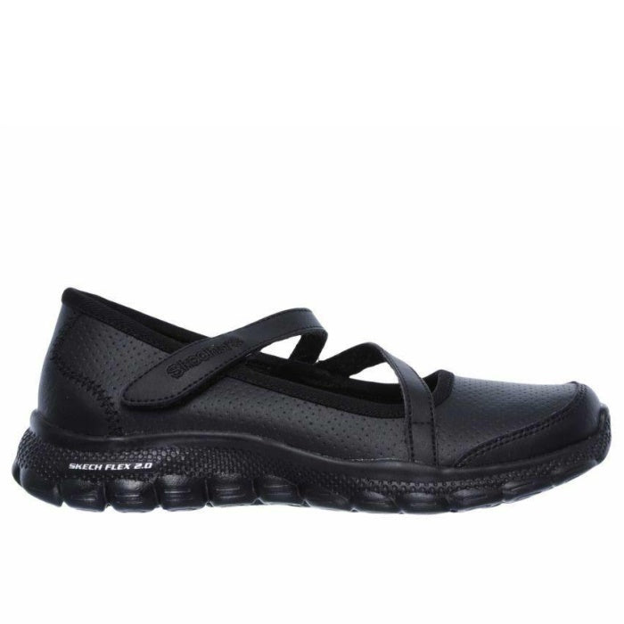 Skechers Girls Black Shoe School Spiritz